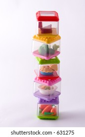 staked play food containers