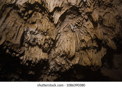 Stalactite formations at Belum caves, India