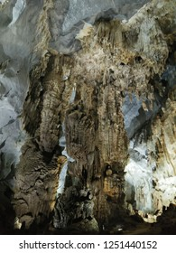 Stalactites inside the cave, Hue Vietnam