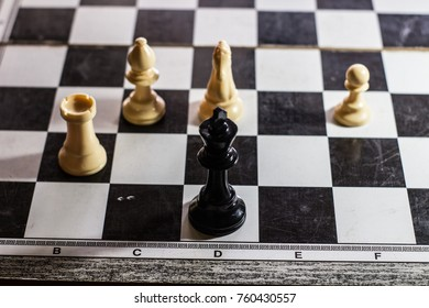 stalemate move on a chessboard with the king cornered end game
