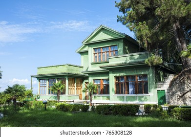 Stalin country house. Abkhazia. Cold river.