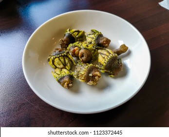 """Stalked barnacles (Capitulum mitella). A special delicacy of Matsu, Taiwan. It's Chinese name is literally """"turtle foot"""". Very delicious!"""