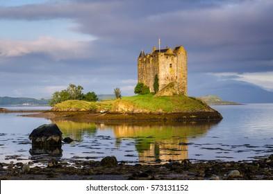 Stalker Castle in morning light, Highlands, Scotland