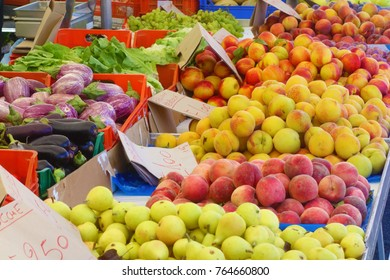 Stall of fruits closeup