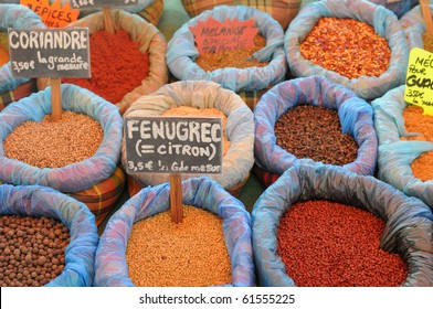 stall of spices in Martinique