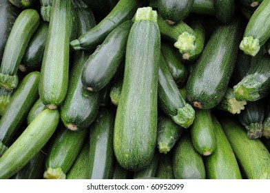 stall of  zucchini at the market