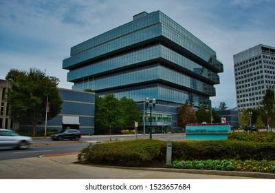 Stamford, Connecticut / USA - Circa October, 2019: Purdue Pharma Headquarters Stamford Connecticut.
