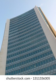 STAMFORD, CT - JUL 8: Landmark Square in Stamford, Connecticut, on Jul 8, 2012. Completed for $35 million, it was the tallest building between New York City and New Haven between 1973 and 2008.