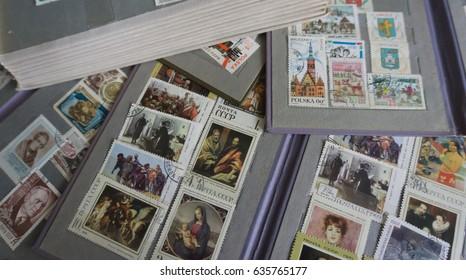 Stamp Collecting Philatelic Different Brands Album Stock
