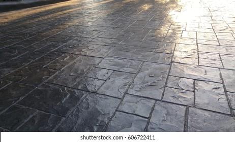 Stamp concrete floor