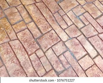 Stamp concrete floor background pattern texture