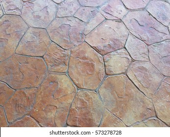 Stamp concrete floor texture and background
