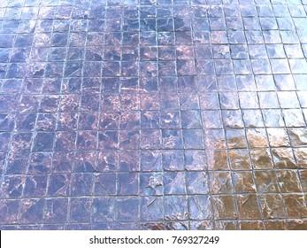 Stamp concrete floor texture background