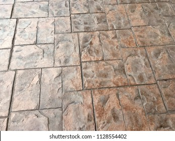 Stamp concrete floor texture pattern background