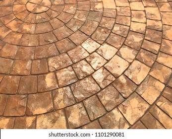 Stamp concrete texture background