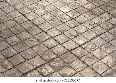 Stamp concrete texture pattern and background, for outdoor floor finishing.