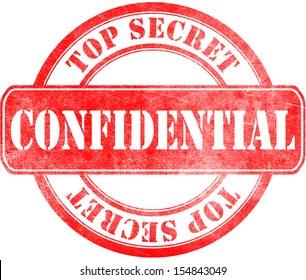Stamp of Confidential - top secret