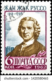The stamp depicts Jean-Jacques Rousseau. 1962 USSR stamp