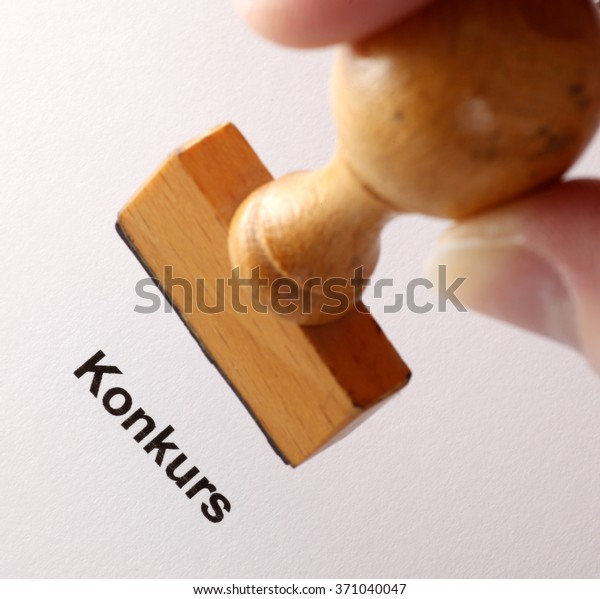 Stamp German Word Konkurs Translation Bankruptcy | Signs/Symbols ...
