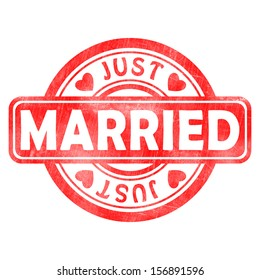 Stamp of Just married