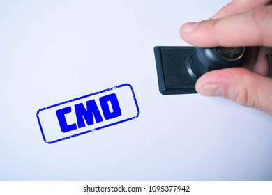 Stamp on paper:CMO