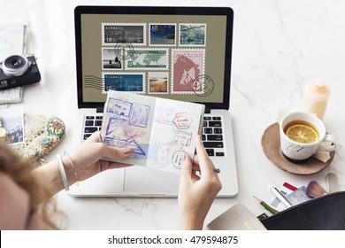 Stamp Post Correspondence Communication Memories Concept