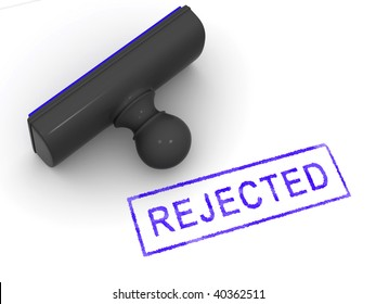 Stamp rejected. 3d