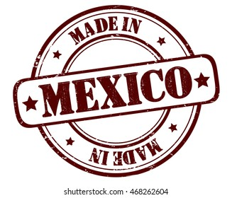 "stamp with text ""made in Mexico"" isolated on white background. Bitmap"