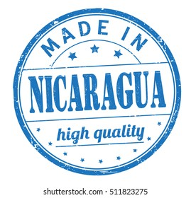 """stamp with text """"made in Nicaragua"""" isolated on white background. Bitmap"""