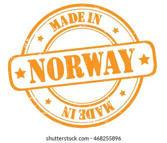 "stamp with text ""made in Norway"" isolated on white background. Bitmap"