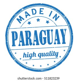 """stamp with text """"made in Paraguay"""" isolated on white background. Bitmap"""