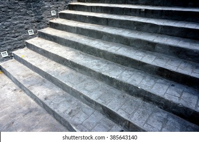 Stamped Concrete Pattern on stair