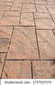 stamped concrete pavement, slate stone tile on cement stones pattern, exterior decorative flooring resistant printed paving