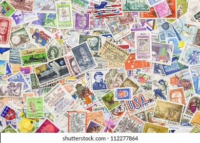 Stamps from different countries and different time