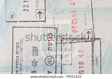Stamps In An Israeli Passport