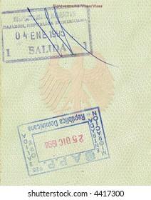 stamps of republic of dominican in german passport