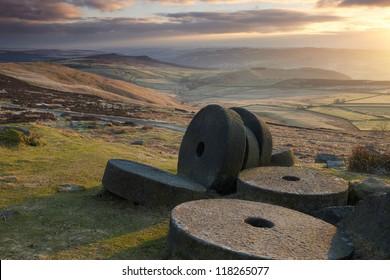 Stanage Edge, Mill Stones, Landscape.