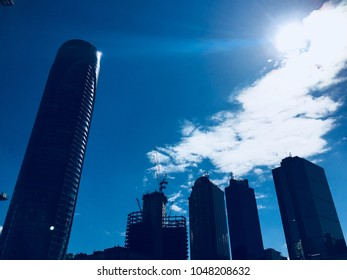 STANBUL,TURKEY-MARCH 14, 2018:Buildings and Skyscrapers in Maslak which a business oriented neighbourhood at business districts of Istanbul, Turkey, located on the European side of the city.