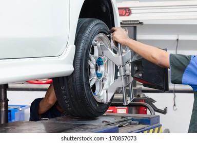 Stand balancing of wheels