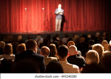 stand up comedian on stage