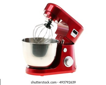 Stand Food Mixer Isolated on White