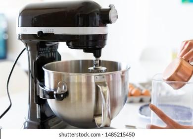 Stand Up Kitchen Aid Mixer in Kitchen