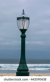 stand lamp on a beach
