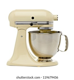 Stand mixer with clipping path isolated on white background