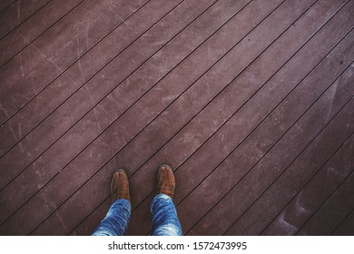 Stand on plank for background