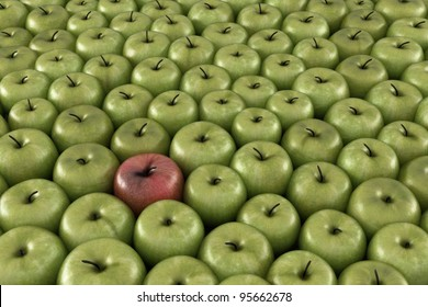 Stand out apple CG image