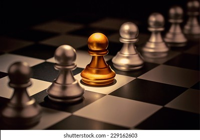 Stand out of a crowd  individuality concept Odd Chess Piece