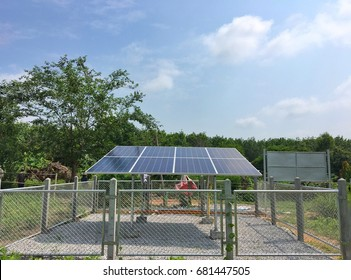 Standalone power system From solar power concept energy off grid.