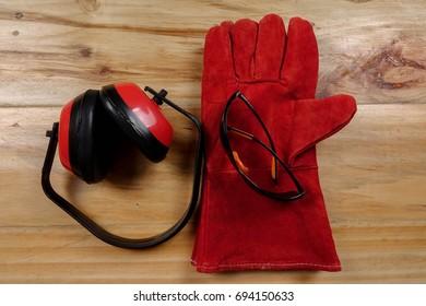 Standard construction safety equipment.