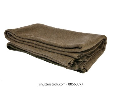 A standard issue wool military blanket